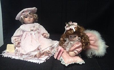 $ CDN83.84 • Buy Lot Of 2 Porcelain Baby Dolls By Seymour Mann & Traditions Doll Collection