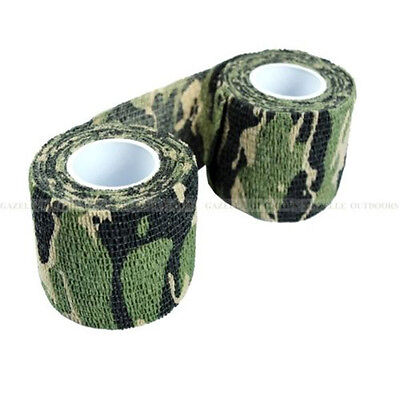 £3.04 • Buy 5PCS/SET Hunting Gun Grass Green Camo Stealth Tape Camouflage Wrap Rifle