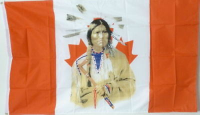 $7.55 • Buy 3x5 Canada Canadian Indian Mapleleaf Flag 3'x5' House Banner Grommets