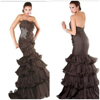 £214.96 • Buy New Red Carpet Pagent Jovani  Tiered Ruffles And Pleated Organza Floor Length