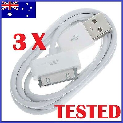 AU6.98 • Buy 3X USB Sync Cable Charger For Apple IPhone 4 4S 3GS IPod Touch IPad Data Cord