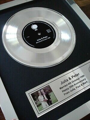 £79.99 • Buy Your Own Personalised 7  Platinum / Silver Disc Single Record Award Presentation
