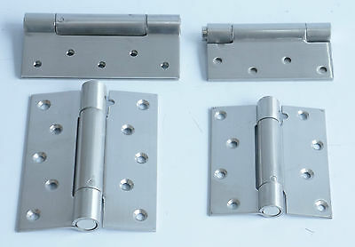 2 X FIRE RATED SELF CLOSING DOOR HINGES Single Action Adjustable Spring • 15.99£