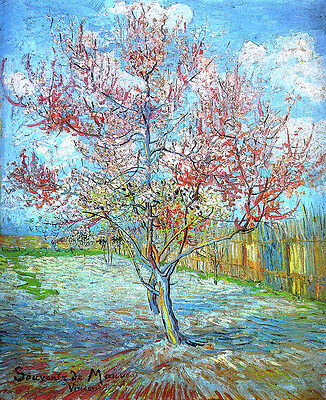 £7.20 • Buy Vincent Van Gogh Peach Tree Art Reproduction Giclee 8.3X12 Canvas Print Poster