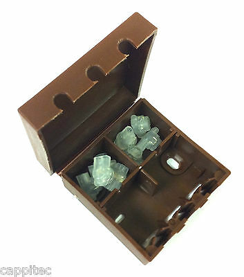 BT16A EXTERNAL CONNECTION CABLE JOINT BOX IN BROWN WITH 8x 2 WIRE JELLY CRIMPS • 5.49£