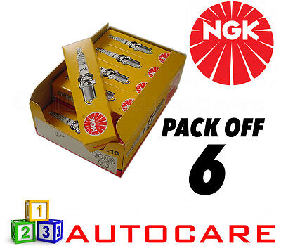 NGK Replacement Spark Plug Set - 6 Pack - Part Number: BPR6ES No. 7822 6pk • 16.01£