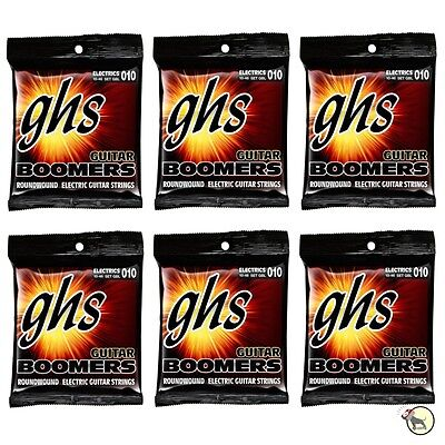 $ CDN38.26 • Buy 6-Pack GHS Electric Boomers GBL Light Nickel-Plated Steel Guitar Strings (10-46)