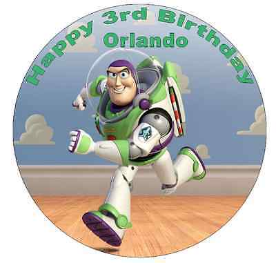 Toy Story Buzz Lightyear Personalised Cake Topper 7.5  Edible Wafer Paper • 1.90£