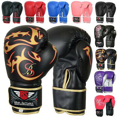 $ CDN25.72 • Buy Pro Leather Boxing Gloves, MMA, Sparring Punch Bag, Muay Thai Training Gloves