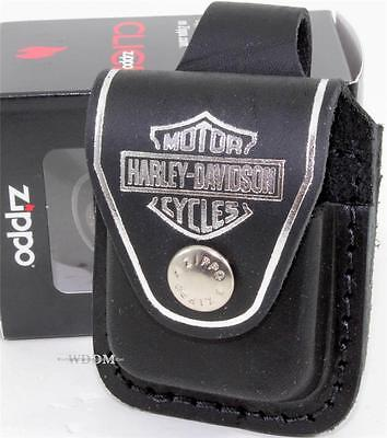 $20.95 • Buy Zippo Harley-Davidson Black Lighter Pouch/Case/Holder Belt Loop Sheath USA Made