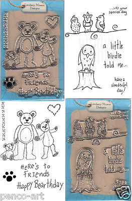 Personal Impressions Clear Stamps Happy Birthday Little Birdies And Bearthday • 3.85£