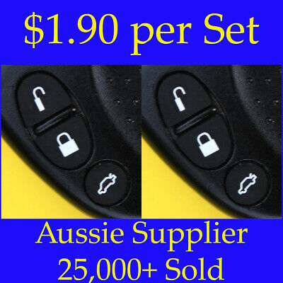 AU3.70 • Buy 2 X Sets Key Remote Buttons Holden Commodore Key Buttons VS VT VX VY VZ WH WK WL