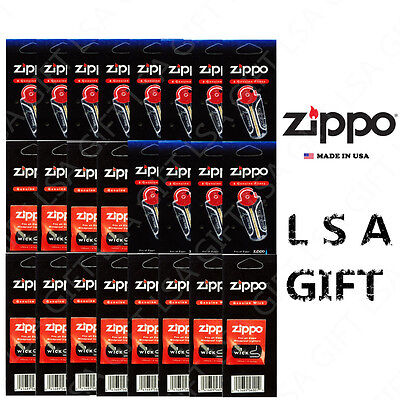 New Zippo Lighters Replacement 24 Value Pack (72 Flints And 12 Wicks) • 10.95$