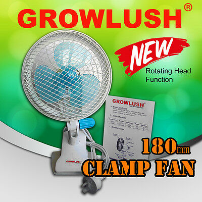 AU42.50 • Buy 180mm Oscillating Clamp Clip Fan Home Ventilation Hydroponic Grow Light Tent Kit