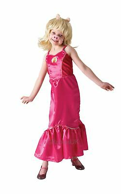 Girls Kids Deluxe Miss Piggy Fancy Dress The Muppets Disney Pink Costume Outfit • 17.99£