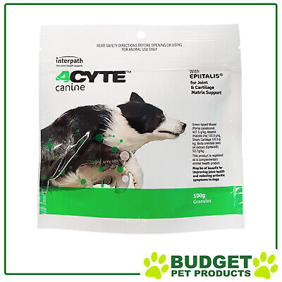 AU69.95 • Buy 4CYTE Canine Joint Support For Dogs 100gm