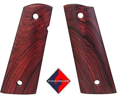 $44.95 • Buy 1911 Grip Full Size Red Cocobolo MagWell Smooth Ambi Cut