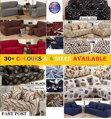 AU25.50 • Buy Stretch Fit Sofa Cover Lounge Couch Removable Slipcover Washable 1 2 3 4 Seater