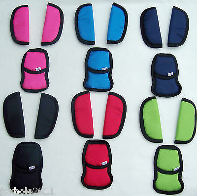 Baby Car Seat And Pushchair Belts Crotch Cover Harness Shoulder Straps Pads Big • 5.79£