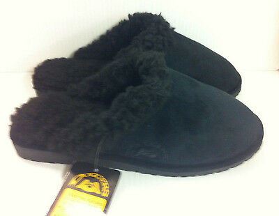 $15.49 • Buy Dawgs Doggers Faux Fur Fleece Lined Clogs Shoes Scuffs Slippers Mens Black