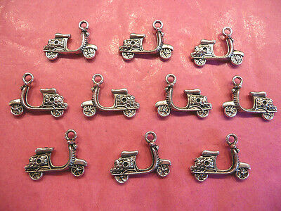 Tibetan Silver Moped/Scooter/Bike Charms 10 Per Pack  • 1.25£