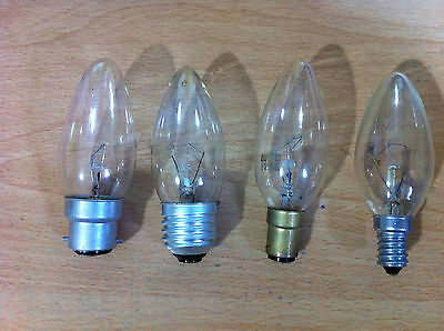 25w 40w 60w Clear Candle Light Bulb Lamp BC ES SBC SES    4 Or 10 Bulbs • 7.09£