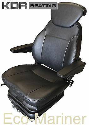 £332.49 • Buy Quality Marine Suspension Seat Helm Chair - Captains Pilot Boat Fishing Trawler