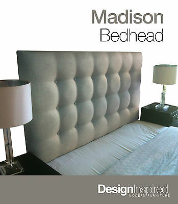 AU389 • Buy MADISON DELUXE Upholstered Bedhead / Headboard For Ensemble Bed