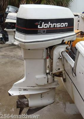 AU20 • Buy OUTBOARD MOTOR WRECKING 90HP JOHNSON V4 CROSSFLOW PARTS FROM $20 Control Cable