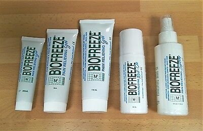 £10.99 • Buy Biofreeze -Gel Roll On Or Spray- Cryotherapy Arthritis Muscle Joint Pain Relief