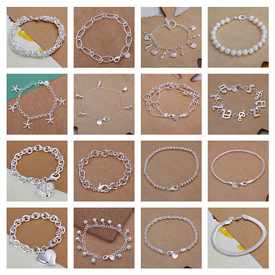 £5.09 • Buy *UK* Silver Plated Bracelet / Anklet / Chain Ladies Statement Gift Girl Womens