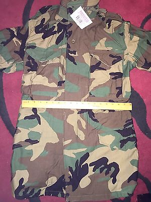 $44.99 • Buy NWT M-65 MILITARY WOODLAND Coat FIELD JACKET BDU Cold Weather EXTRA SMALL LONG