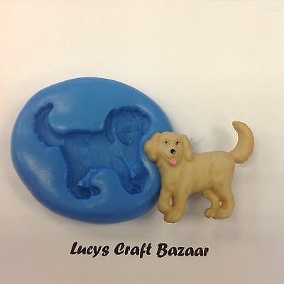 £2.95 • Buy Silicone Mould Golden Retriever Dog Sugarcraft Cup Cake Pop Topper Decorating