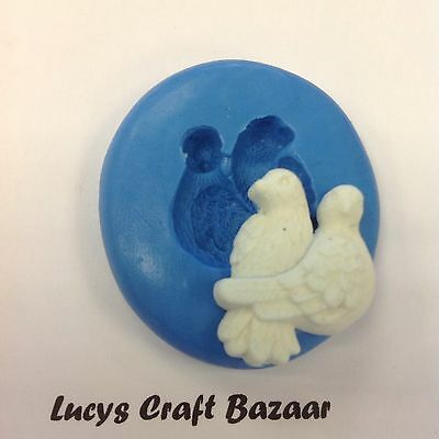 £2.75 • Buy Silicone Mould LOVE BIRDS / DOVES Wedding Marriage Sugarcraft Fimo Chocolate Ice