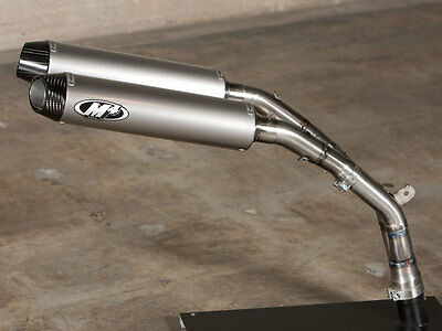 $755 • Buy M4 Exhaust Yamaha R1 04-06 Slip On Cat Eliminator With TITANIUM  Mufflers
