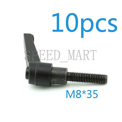 $27.99 • Buy 10 Pcs Machinery M8 X 35mm Threaded Knob Adjustable Handle Clamping Lever