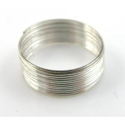 Memory Wire 60 Coils Silver Plated For Bangle Bracelet Loops For Jewellery • 0.99£