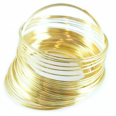 £0.99 • Buy 60mm Memory Wire 60 Coils Gold Plated For Bangle Bracelet Loops For Jewellery