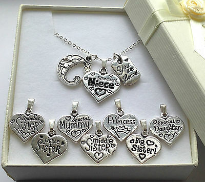 Initial Necklace With Personalised Charm & Made With Love Pendant In Gift Box  • 5.99£