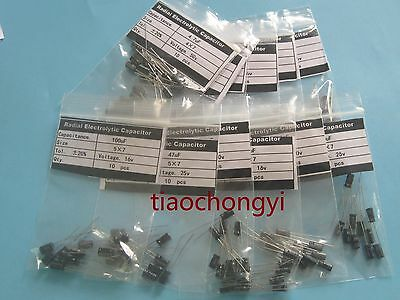 $4.40 • Buy Kit 10value 200pcs 4X7mm 0.1uF-100UF Electrolytic Capacitor Assortment New