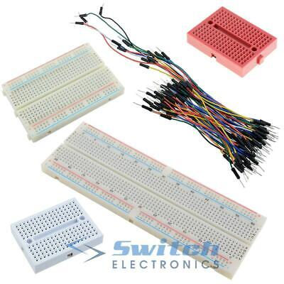 £3.99 • Buy Solderless Prototype PCB Breadboard With 65pcs Jumper Leads Wires