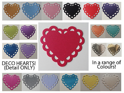 £0.99 • Buy DECO HEART EMBELLISHMENTS (DETAIL) - Paper Punches MULTI LISTING! 30 Pieces