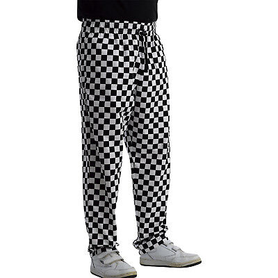 £16.99 • Buy Unisex Polycotton Chefs Trousers Black White Checked Cooks Restaurant Workwear