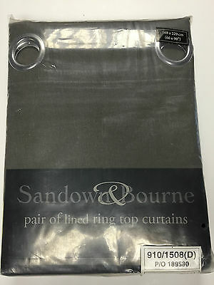 BRAND NEW INSPIRE SANDOWN & BOURNE  RING TOP LINED CURTAINS - GREEN- 66 X 90'' • 25.99£