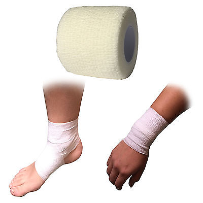 5cm Cohesive Sports Self Adhesive Knee Shoulder Support Strapping Bandage Tape • 13.99£