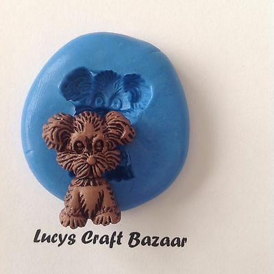 Silicone Mould Dog 2 Puppy Cake Decorating Sugarpaste Fimo Polymer Clay Icing • 2.95£