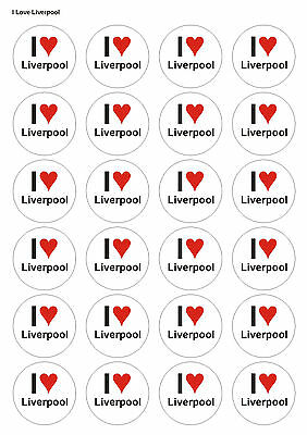 24x Precut Liverpool Football Birthday Edible Wafer Cupcake Cake Toppers 1364 • 2.25£