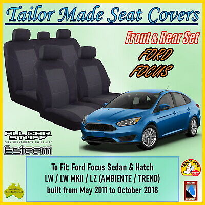 AU148.94 • Buy Tailor Made Seat Covers For Ford Focus LW/LZ Sedan/Hatch From 05/2011 To 10/2018