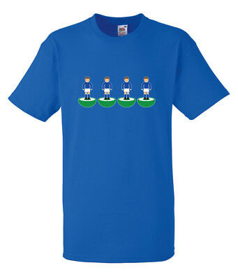 Subbuteo Back Four Everton Blue T-SHIRT ALL SIZES • 9.99£