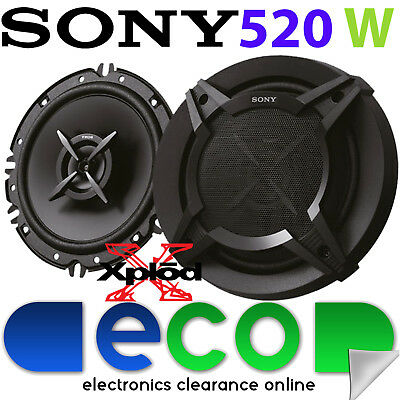 Peugeot 207 2006 - 2012 SONY 16cm 520 Watts 2 Way Front Door Car Speakers • 36.95£